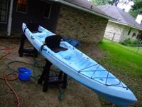 Old Town Cayuga 160 16' sit-in expedition kayak skeg