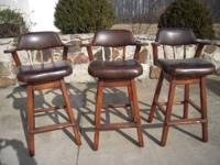 These bar stools are in good shape. Call me at