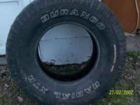 3 tires in good shape $80.00 obo also a deer stand for