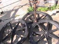 "FOR SALE USED 24"" MAG WHEELS, TWO REAR, ONE FRONT,"