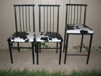 Cute metal kitchen chairs for sale. I am selling all 3