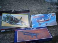 3 MODEL AIRPLANES THAT HAVEN'T BEEN ASSEMBLED. CESSNA