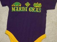 """Laissez les bon temps rouler"" is my 3 month size,"