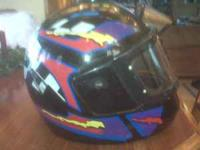I am selling 3 Motorcycle Helmets for $40.00 each. One