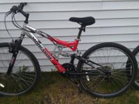 two full suspension aluminum mountain bikes (mongoose