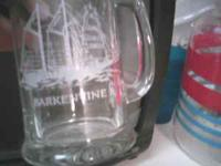 CLEAR MUGS WITH NAUTICAL STUFF ON THEM..I CAN SEND MORE