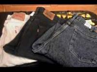 -- ($25 total) 3 pairs of men's jeans -- All 42 X 30-
