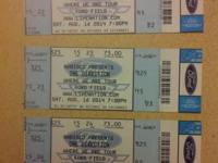 I have 3 tickets for the Saturday One Direction