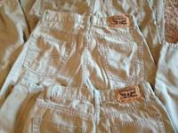 3 pair LEVI 514 khaki trousers. Boys Size 16. These are