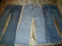 3 Pair of ladies/juniors size 5 jeans.   Levis, light