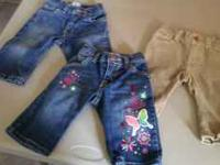 3 very nice pair of baby girl jeans from The Childrens