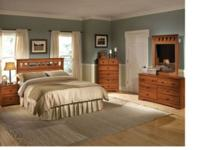 3 PIECE BEDROOM SET INCLUDES HEADBOARD THAT CAN BE USED