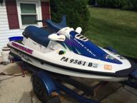 1996 Arctic Cat Tigershark 770. It's a 3 person ski.