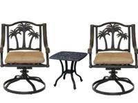 Type: Garden Type: Furniture 3 piece bistro patio set
