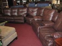 Beautiful chocolate 3 piece sectional in pretty good