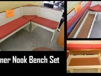 Featured Item Corner Nook Bench Set Benches can be used