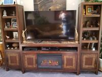 3 piece entertainment center, 8ft x 4in side by side,