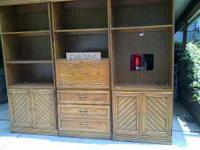 This is a 3 piece Oak Entertainment Center if
