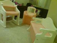 3 piece Little Tikes playset. Pink and white. Toy