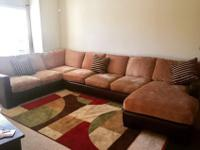 Selling our big 3-piece sectional couch. All parts link