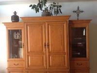 For Sale. . .Beautiful 3 Piece Solid Oak Entertainment