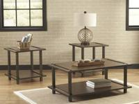 Brand New Ashley 3 Piece Table Set is $248  A very neat