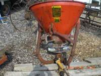 for sale used 3 Point Seeder / Spreader, rusty but