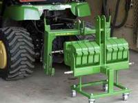 Tractor Hitch with receiver and ballast bar for