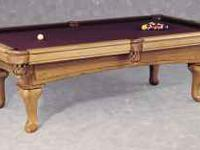 I HAVE A 8', PLAYMASTER OAK POOL TABLE FOR SELL. IT