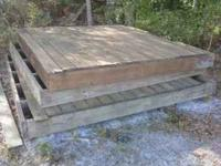 (3) THREE PRESSURE TREATED DECKS. BUILT OUT OF 2x6 AND