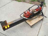 3-Pt. log splitter with detent valve. New wedge