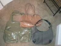 3 purses. $7 each or all 3 for $15. The brown one is a