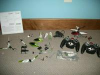 These are 3 Mini rc helicopters that I had, then took 2