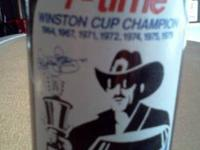 Up for sale are full Richard Petty Pepsi Cola bottles