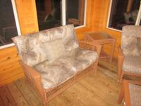 For Sale: 3 period porch wicker furnishings consisting