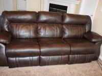 We have a well maintained 3 month old leather recliner
