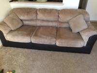 A very well maintained 3 seater Microsuede sofa for