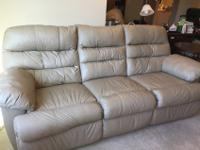 3 Seater sofa couch, 7 foot long, comfortable, leather