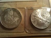 3 Silver Coins 2 Silver Eagle Coins 2008 & 2009 in
