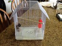 Small Cages with food cups. Clean with grates, perch