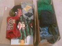 I'm selling two big diaper boxes of boys 3T clothes.