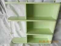 Green vintage shadow box - 20 inches high x 21 inches