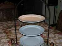 Metal Appetizer stand is $25.00  Location: Roseville