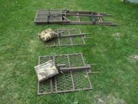 I have 1 aluminum ladder tree stand and 2 swivel seat