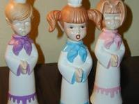 I have for sale 3 vintage ceramic 2 girls and 1 boy