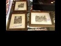 Selling my three vintage miniature signed and framed