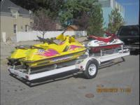 3 Wave runners with Trailer all in Excellent