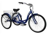 . . SCHWINN Adult 3 Wheel Bicycle / Tricycle : Blue