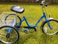 "3 Wheel Bicycle 20"" Miami Sun Single Speed with Front"