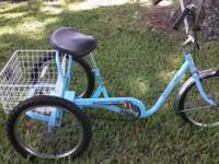 "3 Wheel Bicycle. Adult 20"" Trailmate. Single Speed with"